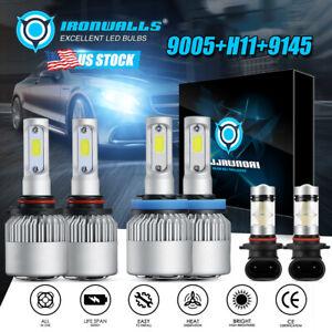 LED Headlight Fog Light Bulbs For 2009 2010 2011 2012 Dodge Ram 1500 2500 3500
