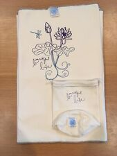 "MOBY 100% ORGANIC Cotton Wrap Cream Color ""Beautiful Life"" Lotus & Dragonfly"