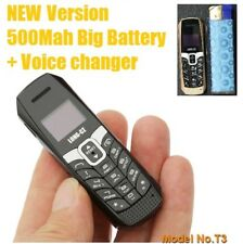 NEW Tiny Long CZ T3 Mini Worlds Smallest Mobile Phone with Voice Changer