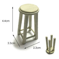 1/12 Dollhouse Miniature Accessories Mini Wooden Stool Chair material pack gt
