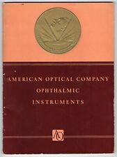 Vintage 1939 American Optical Company Catalog: