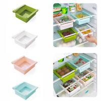 1PC Plastic Kitchen Freezer Space Saver Rack Shelf Holder Organizer Storage Box