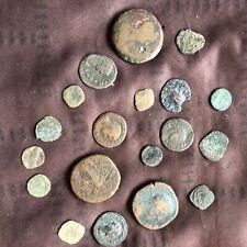 More details for antique roman bronze coins x 19, all original, various