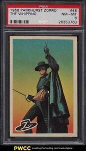 1958 Parkhurst Zorro The Whipping #48 PSA 8 NM-MT