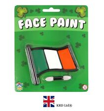IRISH FLAG FACE PAINT SET St Patrick`s Day Novelty Fancy Dress Accessory Kit UK