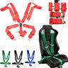 4/5/6 Point Seat Belt Racing Harness Quick Release Track Race Drift Car Mounting