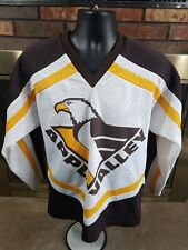 Vintage Apple Valley Minnesota H.S. Hockey Jersey Mens Size Large Brown Yellow