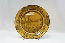 ANTIQUE ROYAL DOULTON PLATE HAYSTACKS SERIES TREES CHURCH 1900's ENGLAND