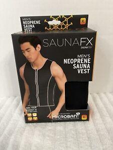 SAUNAFX Men's Neoprene Sauna Vest, Slimming, Treated w/ Microban, Size XL.