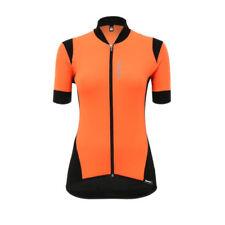 Ropa de ciclismo naranja Santini de mujer