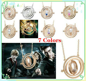 Retro Rotating Time Turner Pendant Necklace Best Birthday Gift