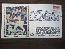 Steve Garvey 1981 World Series Gateway Silk Cachet  Envelope Los Angeles Dodgers
