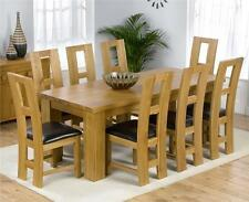 Solid Wood Dining Room Up to 8 Seats Table & Chair Sets