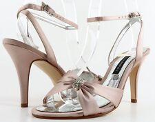 CAPARROS GODIVA Pink Silk Jeweled Designer Fashion WEDDING PROM Sandals 6