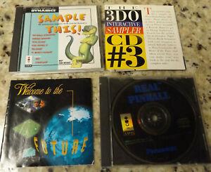 PANASONIC 3DO INTERACTIVE SAMPLER #3 CD - REAL PINBALL CD GAME, SAMPLE THIS CD!