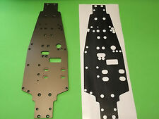 OFNA ULTRA LX 1 COMP Chassis plate protector  BLACK CARBON FIBER look 1/8 buggy