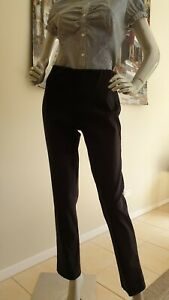 FEATHERS women's black stretch straight Pants. Size XS. AUS made!
