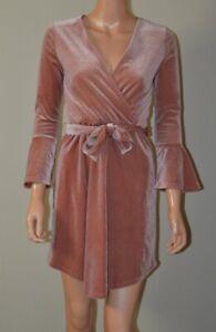 Robe en velours rose H&M T 34