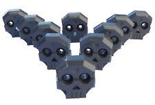 Lego 10 Stück Totenkopfstein dunkelgrau (dark bluish gray) Relief 47990 Neu