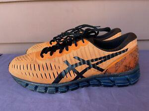 Asics Gel Quantum 360 T5J1N Men US 11 Orange Black Athletic Running Shoes D6