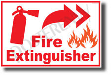 Fire Extinguisher Right - NEW Laboratory or Classroom Fire Safety POSTER (he084)
