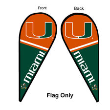 Miami Canes Feather and Swooper Flag