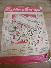 MAGAZINE ** MODELES D'OUVRAGES INITIALES/OUVRAGES/DECORATION   N° 121 JUIN 1949