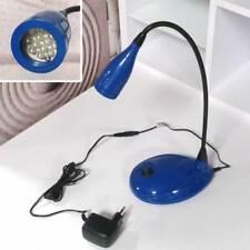 Schreibtischleuchte LED mit Schwanenhals BüroTischlampe blau