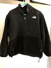 The North Face Mens Small Collar Fleece Full Zip Up Jacket Black Zip Pockets