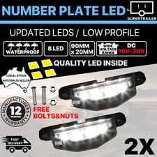 2x 8 LED License NUMBER PLATE LIGHT TRUCK TRAILER VAN UTE CARAVAN 10-30V lamp