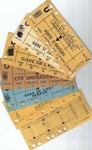 Railway Tickets - RATP Paris Métro Carte Hebdomadaire (Weekly cards)