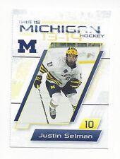 2013-14 Michigan Wolverines Justin Selman (Missouri Mavericks)