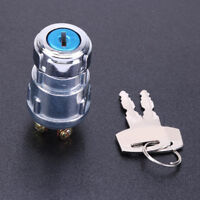 Auto Car 12V Volt Forklift Tractor Ignition 2 Key Switch Lock 4 Position Durable