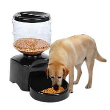 Automatic Pet Programmable Timer Feeder Food Dispenser Container for Dog Black