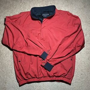 Footjoy Dryjoys FJ Mens Large L Rain Pullover 1/4 Quarter Zip Golf Jacket