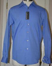 Men's Van Heusen Blue Wedgewood Long Sleeve Button Front Pin Stripe Dress Shirt