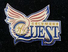 Columbus Quest Abl American Basketball League Lapel Pin