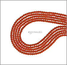 """16"""" Red Orange Bamboo Coral Round Seed Beads 2mm #63065"""
