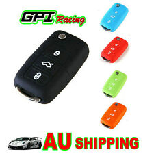 Flip CAR KEY SILICONE COVER Case VW EOS GOLF JETTA PASSAT POLO TIGUAN TOURAN*