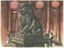 PEKING - Frans MASEREEL - Der KAISERPALAST mit LÖWE  - CHINA 1959