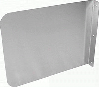 """Splash Guard 15""""x12"""" for Hand Sink Stainless Steel"""