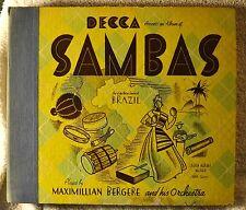 Maximillian Bergere 78 Book Only Decca Presents Sambas Brazil Latin Dance Art