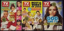 TV GUIDE LOT OF 46 MAGAZINES NOVEMBER 2ND 2002-JULY 4TH 2003 VICTORIA SECRET
