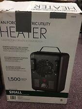 Fan-Forced Electric Utility Heater Small Room Size 1500 Watts 640435