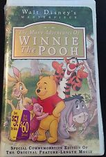 Disney's Masterpiece The Many Adventures of Winnie the Pooh VHS Sealed #7074
