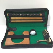 Portable Golf Putting Set Putter Club Ball Travel Office Indoor Practice Vtg