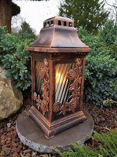 Grablaterne + LED Kerze + Sockel Grablampe Lampe Grableuchte Granit Grablicht