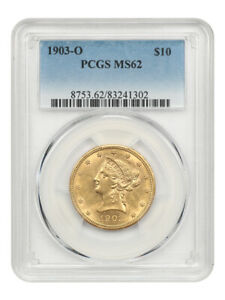 1903-O $10 PCGS MS62 - New Orleans Gold - Liberty Eagle - Gold Coin