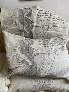 Vintage Style Cushion Cover. French Home Decor Linen Furnishings & Styling 1pc