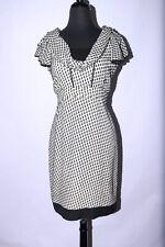 ZAC POSEN Cocktail Dress Silk Blend sz 6 Black Ivory #536